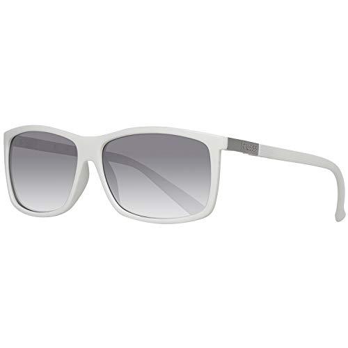 Guess Herren GU118WHT-3F59 Sonnenbrille, Weiß (White), 59