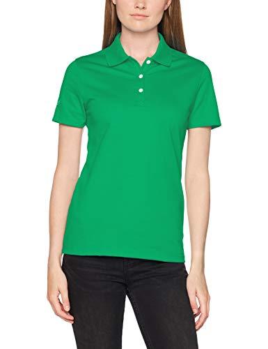Trigema Damen 521603 Poloshirt, Grün (Green 156, L - Lila Baumwoll-piqué