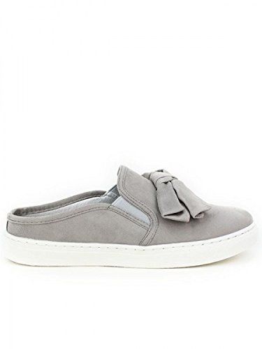 Cendriyon, Baskets Grises SLIPPERS OPEN Chaussures Femme Gris