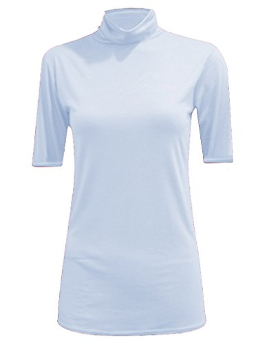 WearAll - Haut à col roulé sans manches - Hauts - Femmes - Tailles 36 à 42 White Short Sleeve
