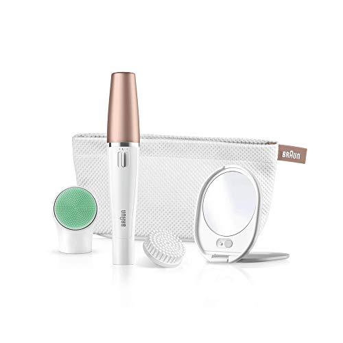 Braun FaceSpa 851 - Sistema 3 en 1 de depiladora facial, cepillo limpiador y masaje, color blanco