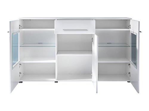 trendteam VIS87301 Sideboard Weiß Hochglanz, BxHxT 163 x 97 x 40 cm - 2