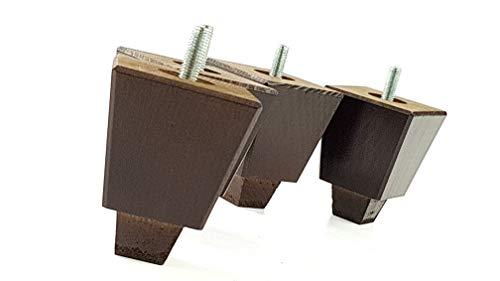 4x Massivholz Möbel Beine Ersatz Füße für Sofas, Stühle, Sofas, Hockern-M10(10)-tsp2013z braun im antik-finish - Mahagoni-holz-finish Couchtisch