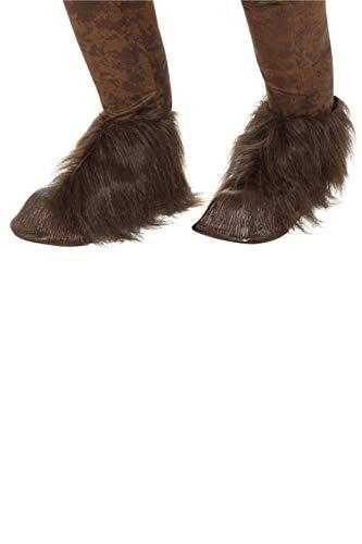Smiffys SMIFFY 'S 47076Beast/Krampus-Demon Huf Schuh Abdeckungen, braun, one Size (Krampus Kostüm)