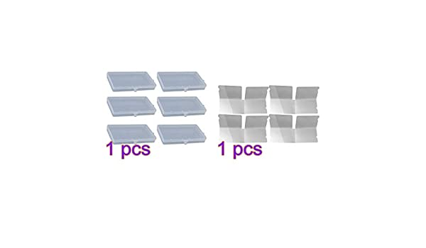 Transparent Cabilock 6Pcs Support de Stockage de Masque Rectangle 4Pcs Support de Stockage de Masque Pliable Stockage de Masque Portable