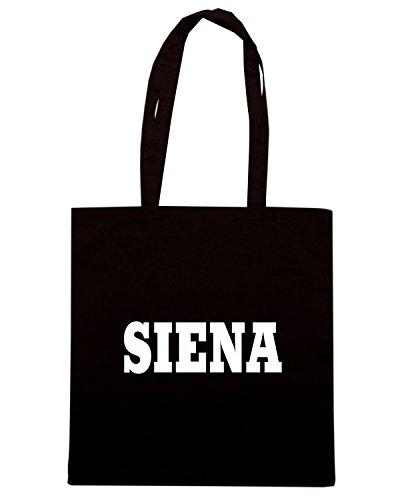 T-Shirtshock - Borsa Shopping WC0901 SIENA ITALIA CITTA STEMMA LOGO Nero