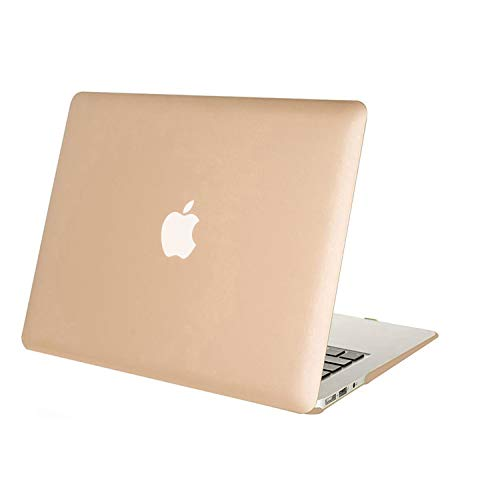 MOSISO Hülle Kompatibel MacBook Air 13 Hülle - Ultra Slim Hochwertige Plastik Hartschale Schutzhülle Shell Case Kompatibel MacBook Air 13 Zoll (A1369 / A1466, 2010-2017 Version), Gold