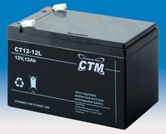 Bleiakku 12V 12Ah (LxBxH/mm=151x98x95), Anschluss: Fast-on 250 (6,3mm)