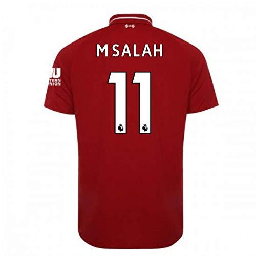 2018-2019 Liverpool Home Football Soccer T-Shirt Camiseta (Mohammad Salah 11) - Kids