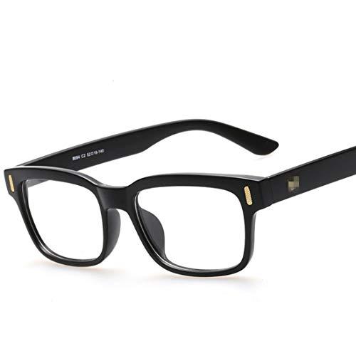 Shiduoli Quadratische Flache Brillenfassungen Retro Brillengläser Brillengestelle Brillen ohne Brillen (Color : Black)