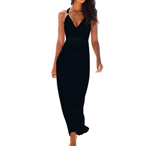 ITISME Robe Longue bohême Robe d'été bohémienne pour Femme imprimée à Pois Robes Longues De Plage