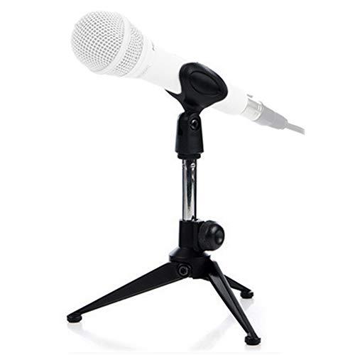 Tencro - Braccio a forbice per microfono, professionale, regolabile, con clip per microfoni Blue Yeti, Snowball e altri microfoni, Tripod Mic Stand