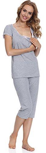 Italian Fashion IF Allaitement Pyjama Femme Montana Mama 0225 Melange/Rose