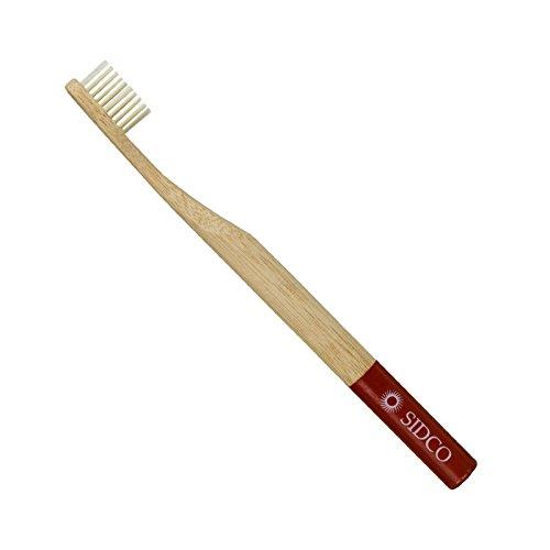 SIDCO ® Bambus Zahnbürste Bio Natur Zahnreinigung vegan Bambuszahnbürste rot