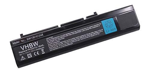 vhbw Batterie 11.1V 4400mAh pour Toshiba Satellite M30, M35, remplace Les modèles PA3331, PA3331U, PA3331U-1BAS, PA3331U1BAS, PA3331U1BRS, PA3332U-1BAS