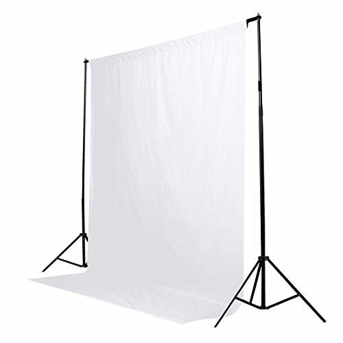 1,8 x 2,7 M White 100% Baumwolle Fotostudio Video Muslin Fotografie-Hintergrund-Hintergrund Collapsible Muslin Hintergrund