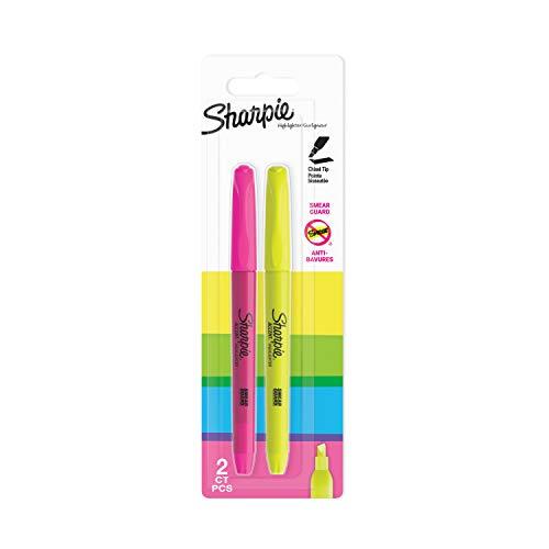 Sharpie ACCENT Pocket Textmarker, Keilspitze, sortierte Fluoreszierende Farben, 2Stück