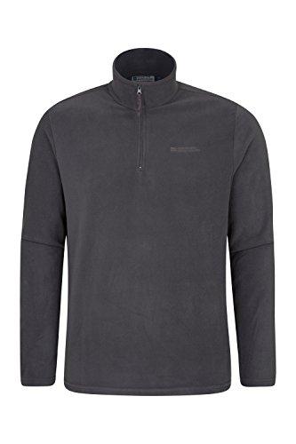 Mountain Warehouse Herren-Camber-Fleece - Ultraleicht, atmungsaktiv, Wasserdichte Jacke, schnell trocknend, Antipilling-Sweatshirt, extra Belüftung - zum Wandern Dunkelgrau X-Large
