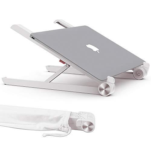 Laptop Ständer, Multi-Winkel verstellbar, Höhe einstellbar, Tate Guard Klappbar Stand, für 10 bis 17.3 Zoll Tablet/MacBook/Tab Laptop PC, 2017 Microsoft Surface Pro,faltbar Weiß