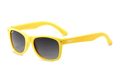 Miuno® Kinder Sonnenbrille Polarisiert Polarized Wayfare Etui 6833a (Gelb)
