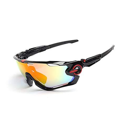 MaxAst Sportbrille Outdoor Outdoor Brille Herren Sicherheitsbrille Damen Schwarz Rot Nagel
