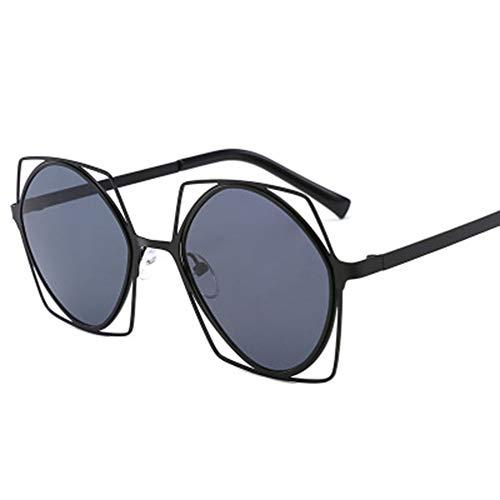 Li Kun Peng Sonnenbrillen Hollow Fashion Sonnenbrillen Großhändler Europa Und Amerika Round Metal Frame Sonnenbrillen,C1Black~Gray,C2Gold~Red