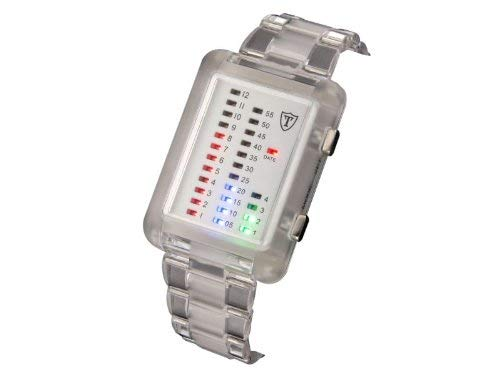Detomaso Unisex Binäruhr Spacy-Timeline Transparent G-30721-T