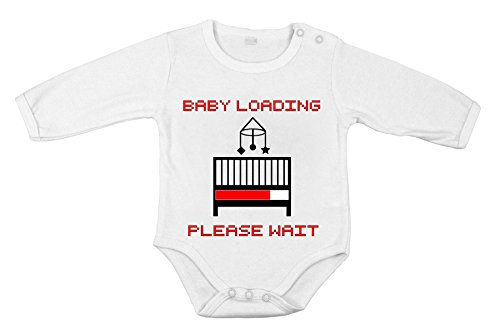 Baby Newborn Cotton Clothing Long Sleeve Loading Please Wait Print 12 Months