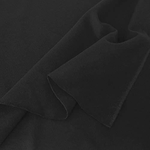 TOLKO Baumwollstoffe Meterware | Lichtdichter Bühnen-Molton Stoff für Verdunklungsvorhänge | 300cm breit | 2mm dick | zum Nähen und...