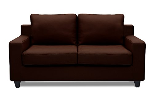 Beanbagwala Oxford Leatherette 2 Seater Sofa Set-Brown