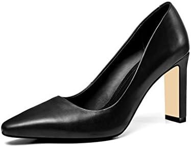 wetkiss SA012 - Zapatos de Vestir de Piel Vacuna para Mujer
