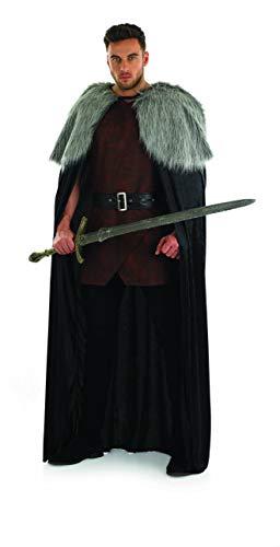 Fun Shack Herren Costume Kostüm Brown Fur Trimmed Cape ()