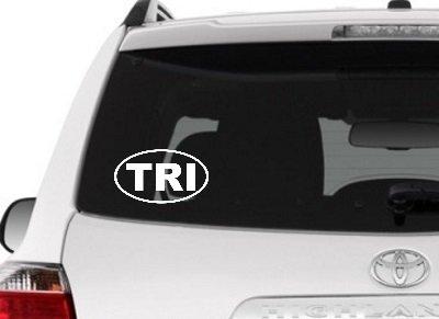 Say It Stickers Tri Aufkleber-Weiß Vinyl Aufkleber für Triathleten/Auto, Fenster, Laptop, Tumbler