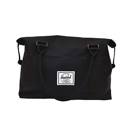 Dorical Handgepäck Trainingstasche Unisex Fitnesstasche Gym Tasche Sporttasche Hochwertige Reisetasche Schultergurt Herren und Damen Rucksack Outdoor Reisetasche(Schwarz)