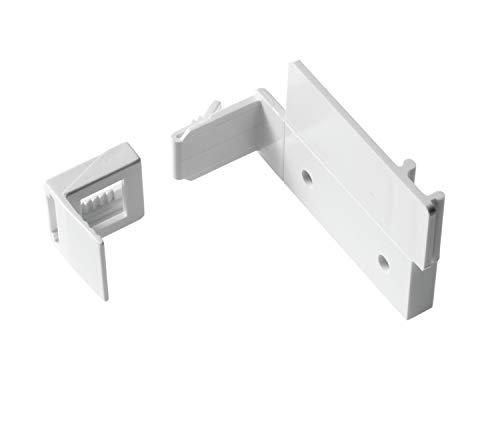 Gardinia EASYFIX Klebe- und Klemmset Kunststoff weiß 0.1