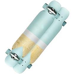 Skateboards 23.5cm Vert Débutant Garçons Et Filles Général Longue Planche Jeunesse Professionnelle Adult 4 Wheel (Color : Green, Size : 112 * 23.5 * 12cm)