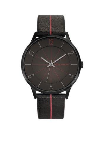 Ted Lapidus 5128802 - Reloj de pulsera hombre, piel, color negro