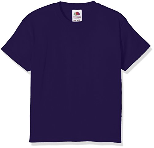 Fruit of the Loom Jungen T-Shirt Value T Violett (Purple)