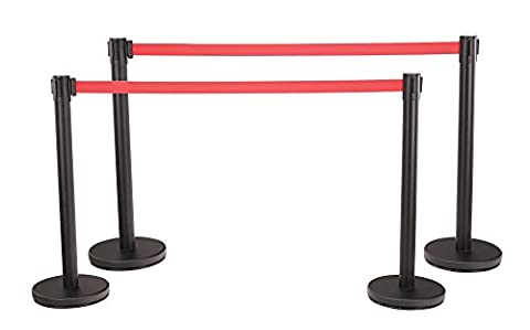 Stagecaptain PLS-200B Barricade Crowd Direction System - Black 4-Piece SET