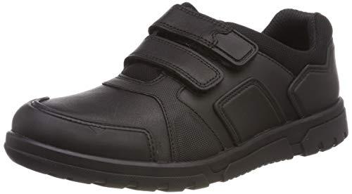 Clarks Jungen Blake Street Sneaker, Schwarz (Black Leather), 35 EU (Schuhe Jungen Kommunion Für)