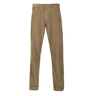 Alexanders of London Soft Jumbo Corduroy Jeans - Tan - Size 34/32