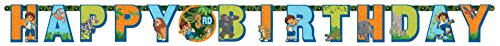 's Biggest Rescue Jumbo Add-An-Age Letter Happy Birthday Party Banner Decoration (1 Piece), Multicolor, 10 1/2' x 10 by Go Diego Go (Go Diego Go Birthday Party)
