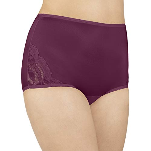 Vanity Fair Damen Perfectly Yours Lace Nouveau Brief Panty 13001 Unterhose, Chilled Wine, XX-Large (35) (Briefs Bali Panties)