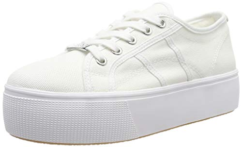 Steve Madden Damen Emmi Sneaker, Weiß (White 002), 39 EU