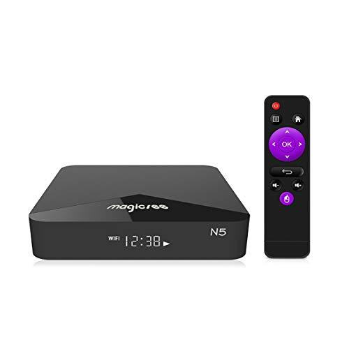 MAGICSEE N5 TV Box Android 7.1.2 OS 2GB RAM+16GB ROM 2.4G+5G WiFi BT4.1 4K Smart TV Box mit Fernbedienung
