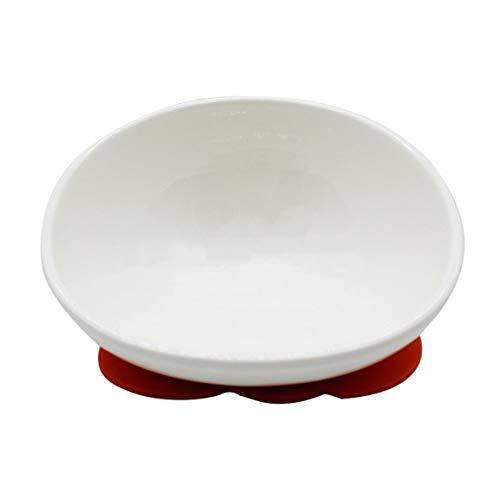 fghfhfgjdfj Neuheit Pet Feeder Keramik White Bulldog Bowl Set mit Esstisch Drink Water Pets Supplies rutschfeste Futternäpfe -