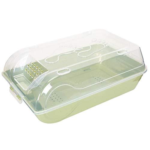 PQZATX Schuhe Speicher Organisator Transparenter Stapelbarer Kasten Haushalt Plastikschuhkasten Grün -