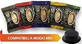 5x50 capsule Borbone Don Carlo DEGUSTAZIONE 50 NERA, 50 BLU, 50 RED, 50 ORO, 50 DEK compatibili a modo mio