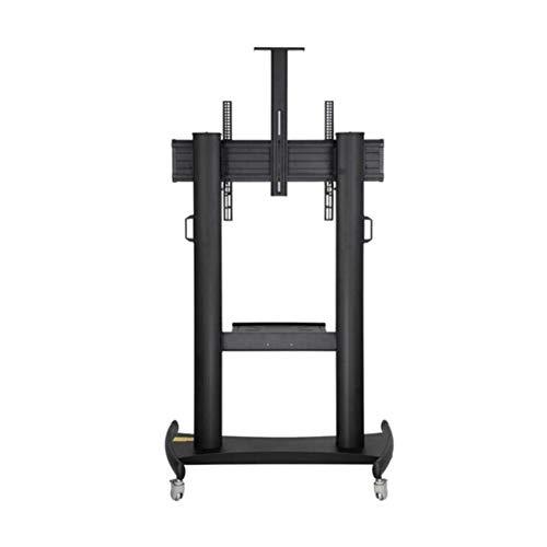 Beweglicher TV-Ständer, 60-100 Zoll TV Mobile Cart LCD LED Plasma Flat Panel Stand Einbau Verstellbare Höhe, Universelle Radfußbremse -