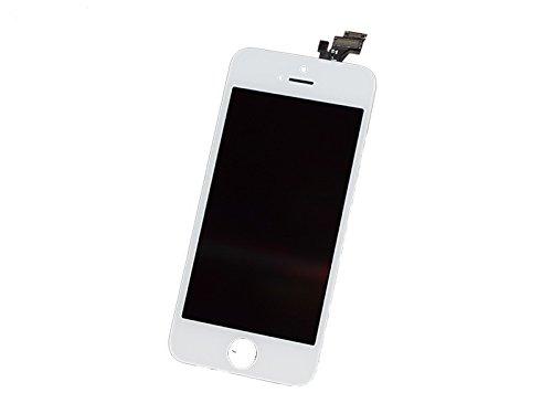 Compatible with iPhone 5 Display Reparaturset Ersatz LCD Display Touchscreen Bildschirm Compatible für iPhone 5 mit Anleitung, Werkzeug, Magnet-Schraubenkarte in Weiß